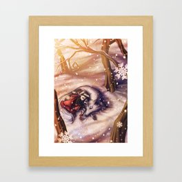 Winter Storm Framed Art Print