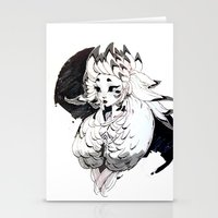 lamb Stationery Cards featuring Lamb by Samuel Youn