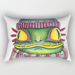 Winter Frogman with a beanie Rectangular Pillow