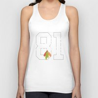 blackhawks Tank Tops featuring Like a Hoss by fohkat