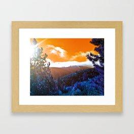 Creamsicle Sky Framed Art Print