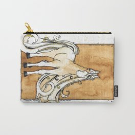 Horse Tea Painting 1 Carry-All Pouch