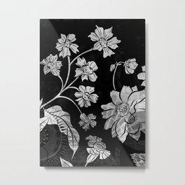 Porcelan Posies Metal Print