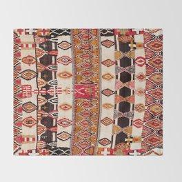 Beni Yacoub South Morocco North African Pile Rug Print Throw Blanket