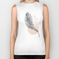 feather Biker Tanks featuring Feather by Koning