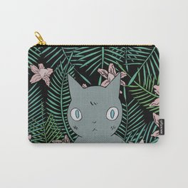 Cat with Palm Tree Leaves Carry-All Pouch