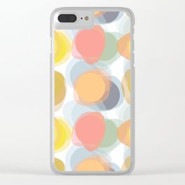 Colorspots of Yellow Clear iPhone Case