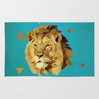 lion Area & Throw Rugs featuring lion by gazonula