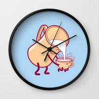 milk Wall Clocks featuring milk by gotoup