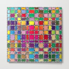Stained Glass Window Multicolour Pattern Metal Print