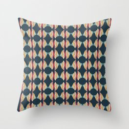 Oval and Diamond Sillouette Pattern Throw Pillow