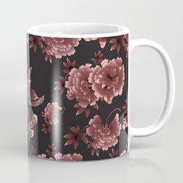 Phoenix Bird with peony flowers Coffee Mug