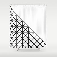 the xx Shower Curtains featuring XX Pattern by Rafael Igualada