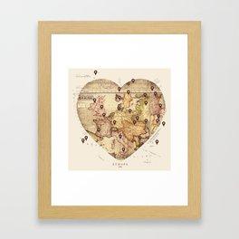 Love to Travel Framed Art Print