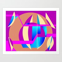 celestial Art Prints featuring Celestial by MMZ Designs