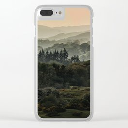 Foggy morning in Lake District Clear iPhone Case