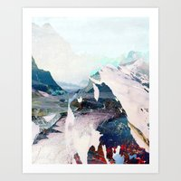 tchmo Art Prints featuring Untitled 20131108w (Landscape) by tchmo