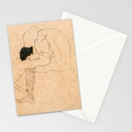 Egon Schiele Lovers Stationery Cards