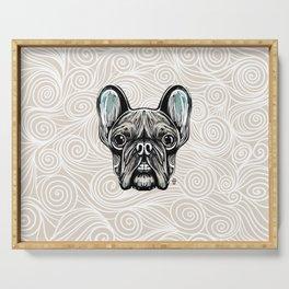 French Bulldog Smilling Serving Tray
