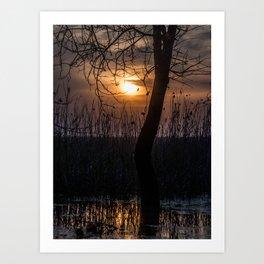 Sunset with mood Art Print