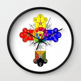 Freemasonic Rosy Cross Wall Clock