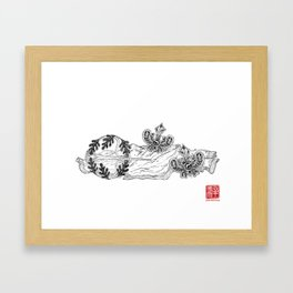 Decorative Cufflinks Framed Art Print