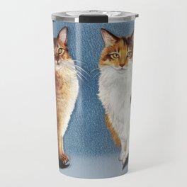 Cute Cats Drawing Travel Mug