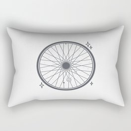 Bicycle rim with the solar system Rectangular Pillow