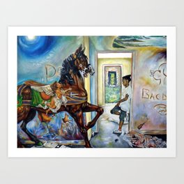 Rescue from the Ruins Art Print