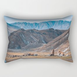 Small Village in the mountains Rectangular Pillow