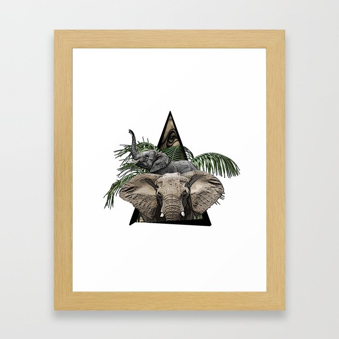 Elephant Jungle ArtWork Framed Art Print