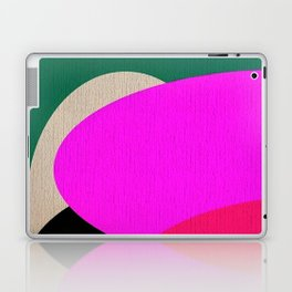 Abstract Composition in Green and Fuchsia Laptop & iPad Skin