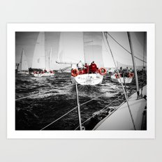 Lifesavers Near the Ocean Art Print