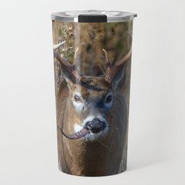 Deer Eating Seedpod Travel Mug