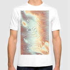 Abstract 358 Mens Fitted Tee MEDIUM White