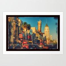 Hollywood Boulevard Art Print