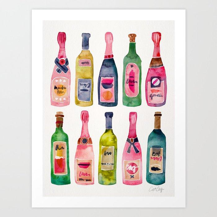 Champagne Collection Kunstdrucke