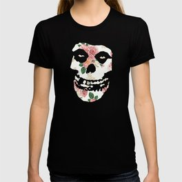 White with White and Pink Rose Misfit T-shirt