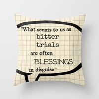 oscar wilde Throw Pillows featuring Oscar Wilde Thought Quote by Allyson