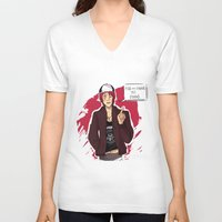 iwatobi V-neck T-shirts featuring Fish are Friends by Nowhere Little Girl