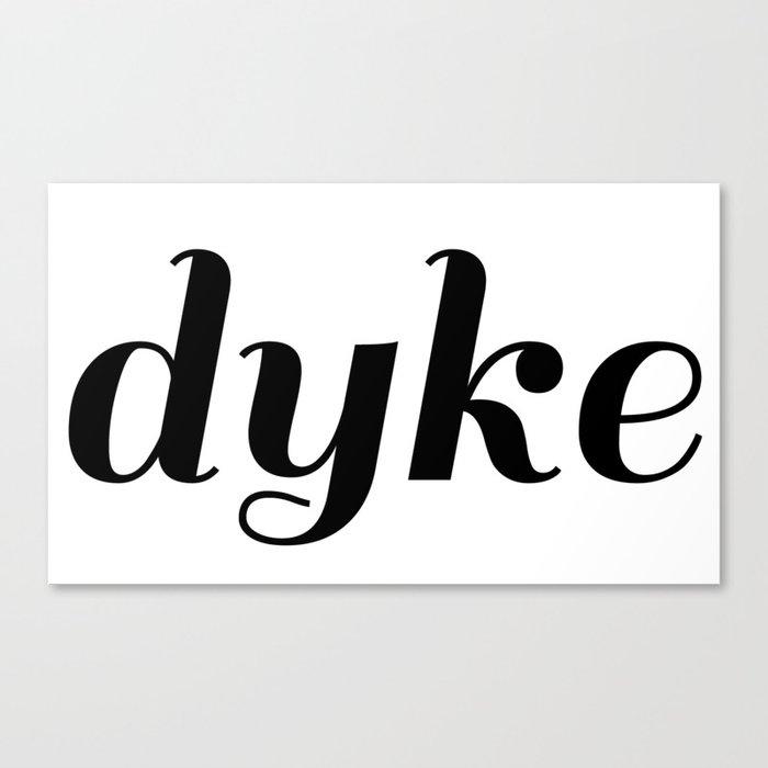 dyke pride Canvas Print