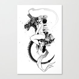 APPETIZERS: NERDY GIRL Canvas Print