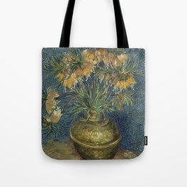 Crown Imperials in a Copper Vase Tote Bag