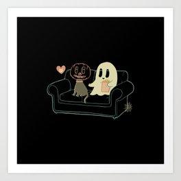 Halloween 2020 Stay Home Art Print