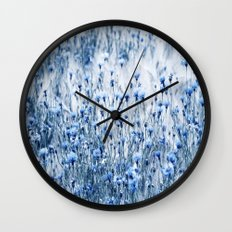 Cornflowers in summer time Wall Clock