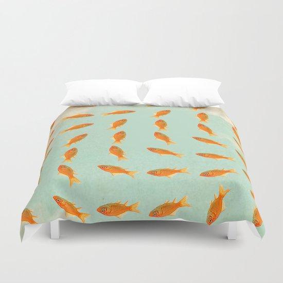 pattern goldfish Duvet Cover
