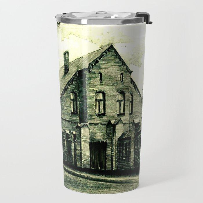 THE GOTHIC STREET IN A POLISH CITY HELMNO Travel Mug