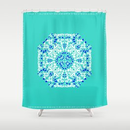"CA Fantasy ""For Tiffany color"" series #1 Shower Curtain"