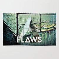 bastille Area & Throw Rugs featuring Bastille - Flaws by Thafrayer