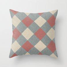 Linen Diamonds Throw Pillow